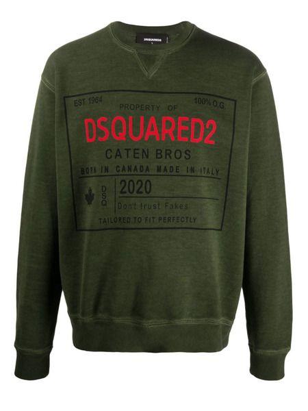 Свитшот зеленого цвета Dsquared2 фото