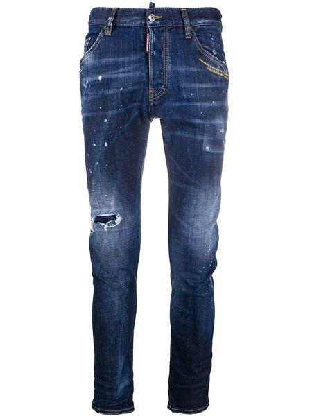 Мужские джинсы с разрезами