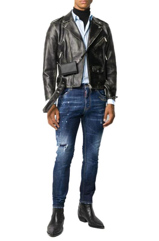 Мужские джинсы с разрезами Dsquared2, фото