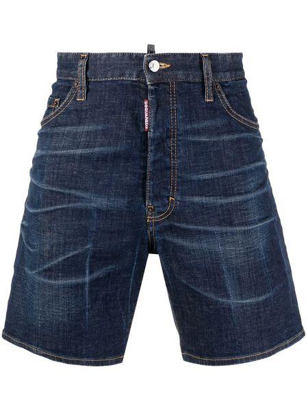 Мужские джинсовые шорты средней посадки Dsquared2 фото