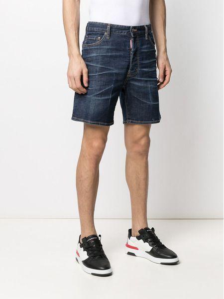 Мужские джинсовые шорты средней посадки