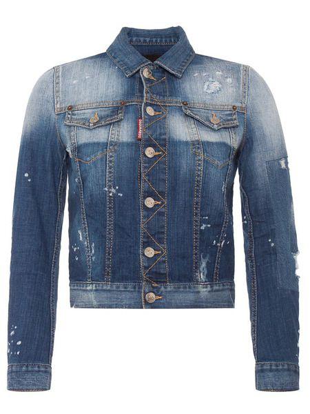 Джинсовая куртка из хлопка Shadow Dsquared2 фото