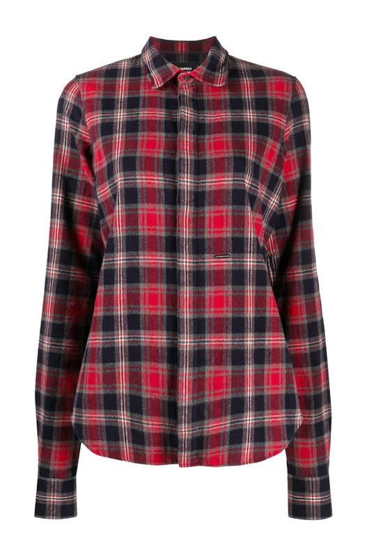 Рубашка в клетку тартан Dsquared2, фото