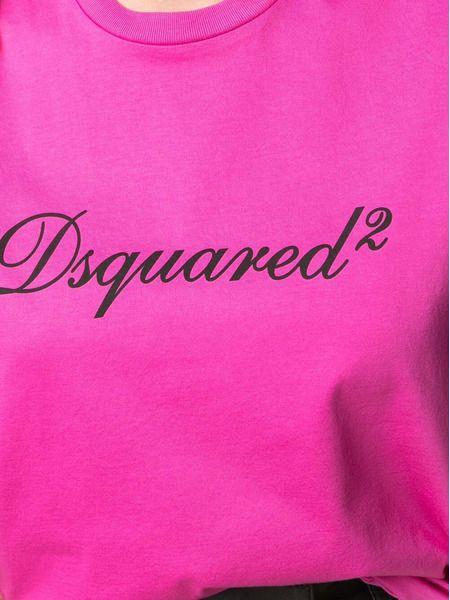 Розовая футболка с логотипом