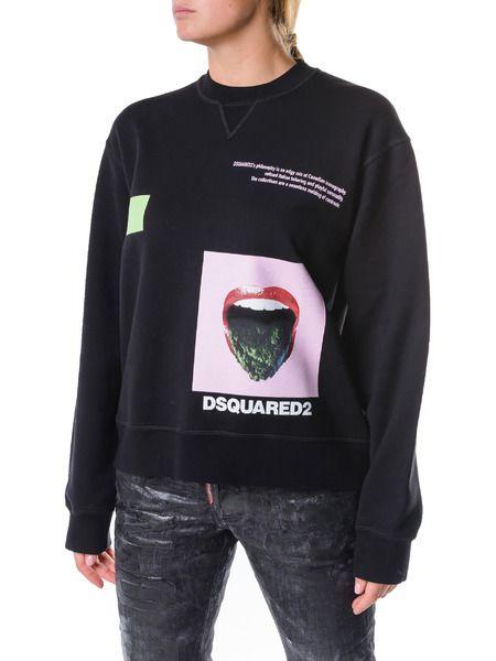 Черный свитшот з принтом Dsquared2 фото