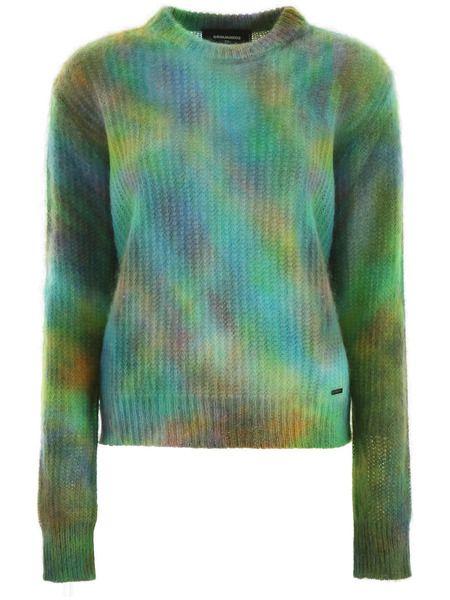 Пуловер с принтом тай-дай Tie & Dye Dsquared2 фото