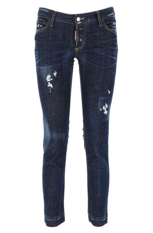 Темно-синие джинсы с потертостями Dsquared2, фото