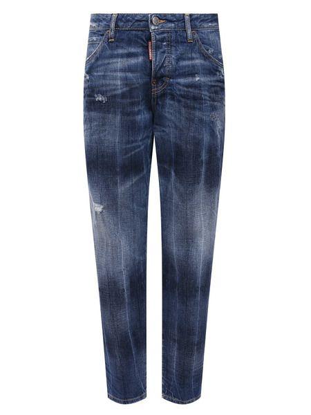 Синие укороченные джинсы Dsquared2 фото