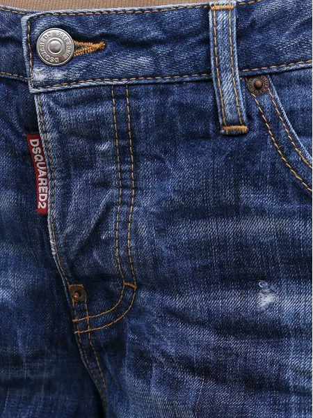 Синие укороченные джинсы