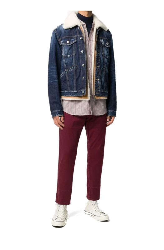 Джинсовая куртка с меховым воротником Dsquared2, фото