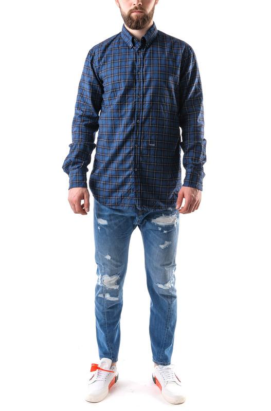 Клетчатая рубашка синего цвета Dsquared2, фото