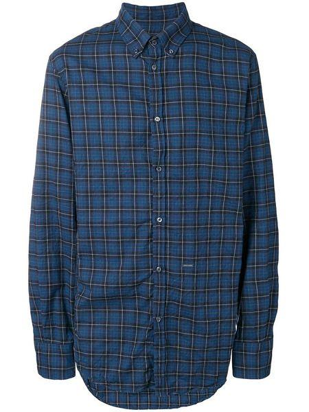 Клетчатая рубашка синего цвета Dsquared2 фото