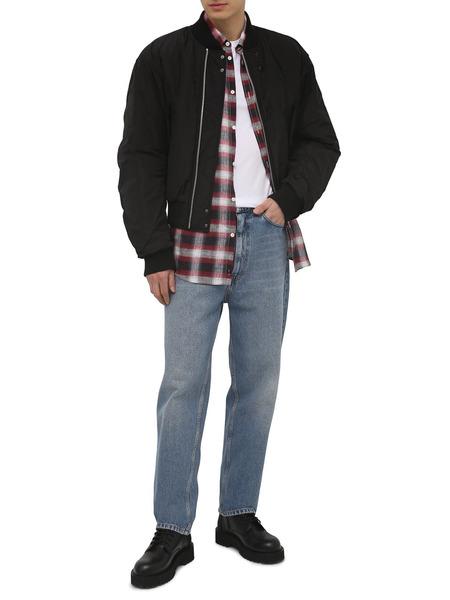Клетчатая льняная рубашка с длинными рукавами Dsquared2, фото