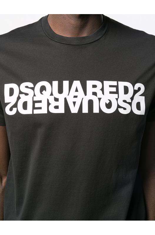 Футболка с контрастным логотипом Dsquared2, фото