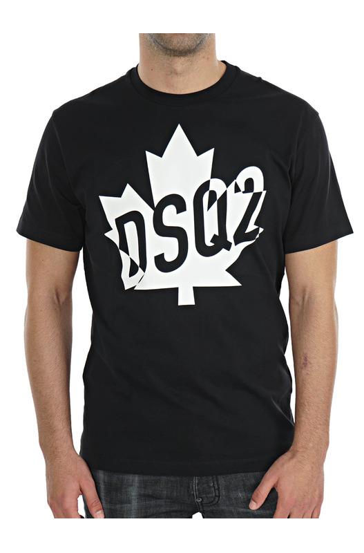 Черная футболка Canada с логотипом Dsquared2, фото