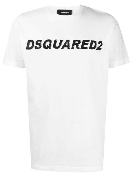 Белая футболка Classic с логотипом Dsquared2, фото