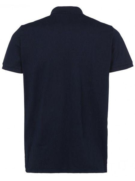 Темно-синие хлопковое поло