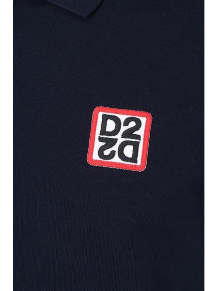 Темно-синие хлопковое поло Dsquared2, фото