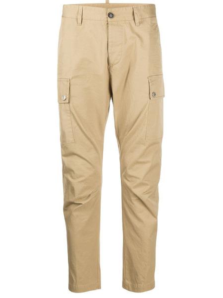 Бежевые зауженные брюки карго Dsquared2, фото