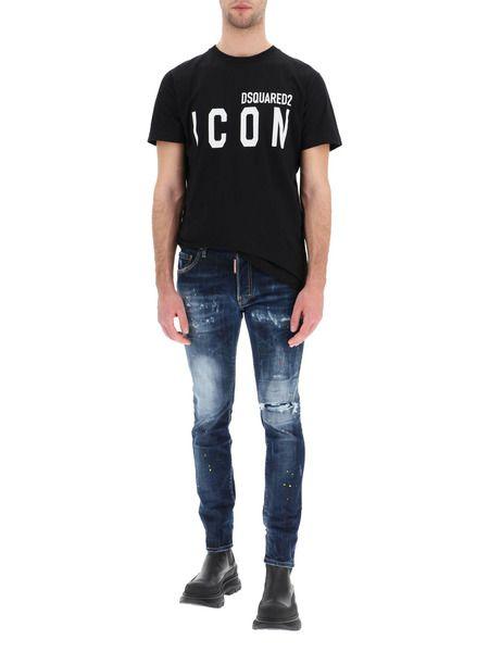 Темно-синие зауженные джинсы Skater Jean