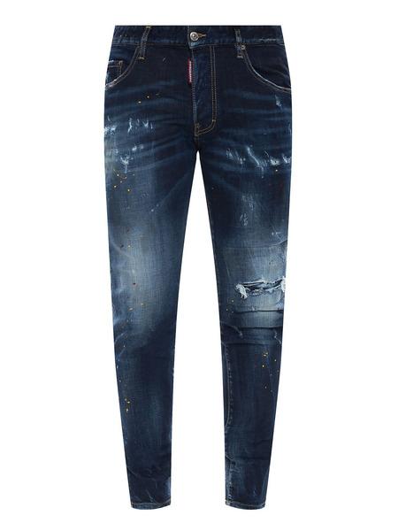 Темно-синие зауженные джинсы Skater Jean Dsquared2, фото