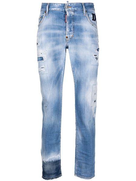Прямые джинсы с прорезями Dsquared2 фото