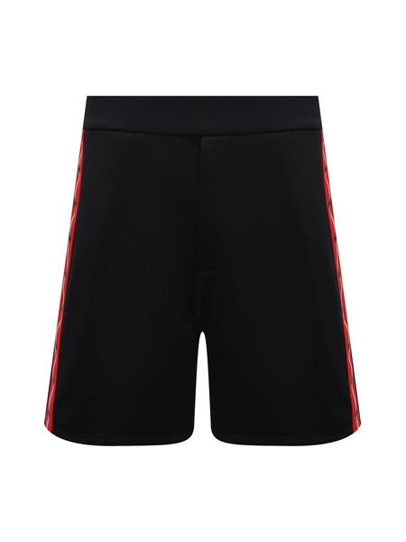 Черные спортивные шорты с красными лампасами Dsquared2, фото