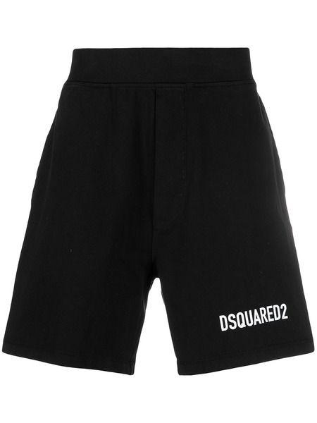 Черные спортивные шорты с логотипом Dsquared2, фото