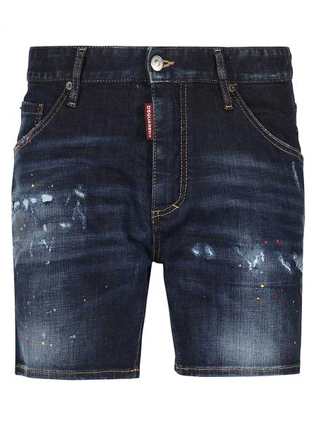 Темно-синие джинсовые шорты Dsquared2, фото
