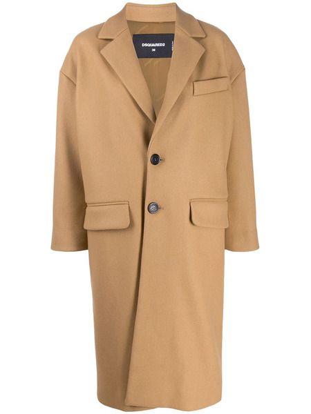 Пальто строгого кроя Dsquared2 фото