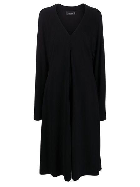 Платье-трапеция с длинными рукавами Dsquared2 фото