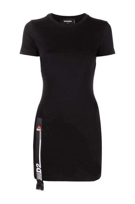 Черное короткое платье D2 Dsquared2, фото