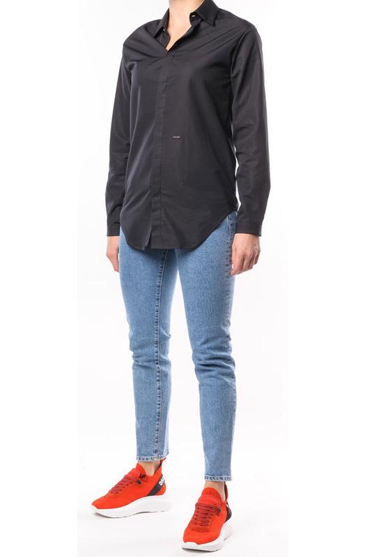 Черная рубашка приталенного кроя Dsquared2