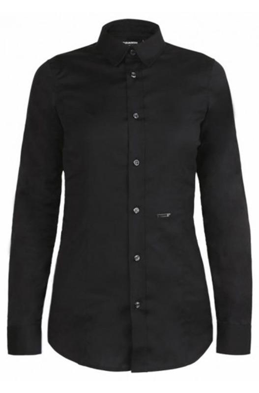 Черная рубашка приталенного кроя Dsquared2, фото