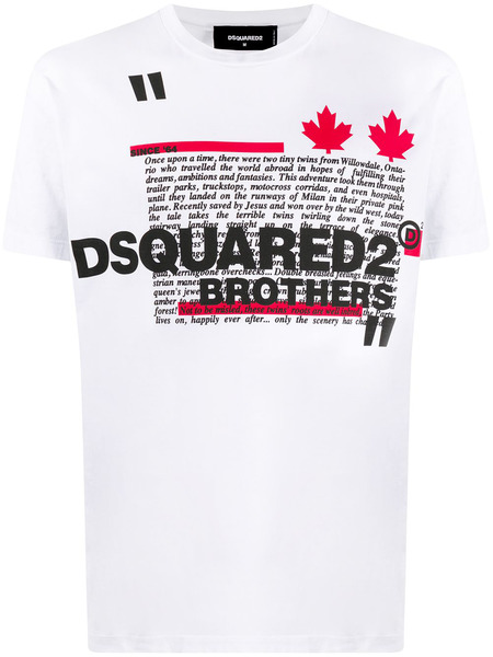 Белая хлопковая футболка Brothers Dsquared2, фото
