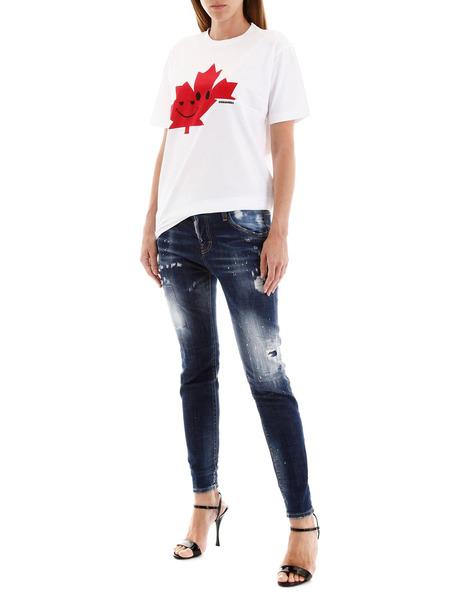 Укороченные джинсы темно-синего цвета Dsquared2, фото