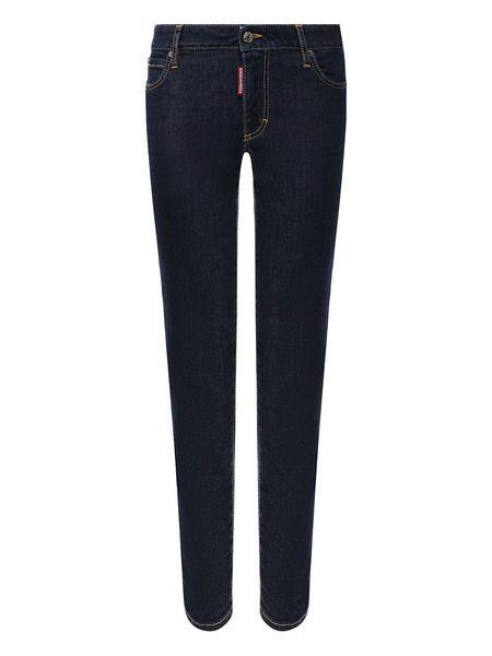 Темно-синие джинсы Cropped Twiggy Jean Dsquared2 фото
