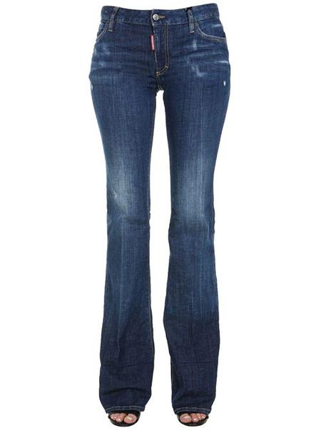 Удлиненные джинсы с широкими штанинами Dsquared2 фото