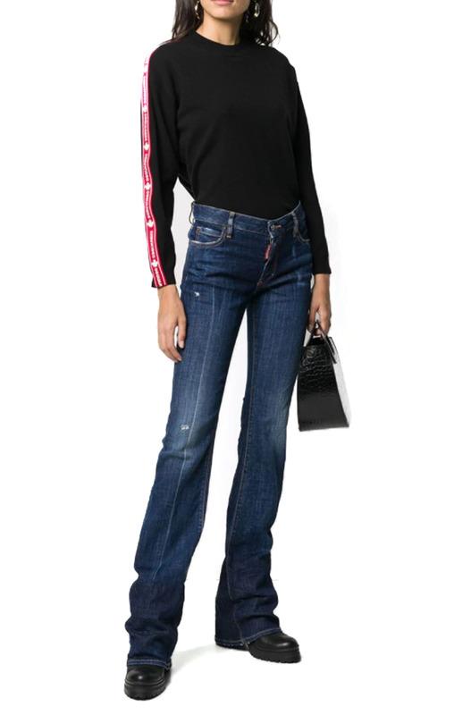 Удлиненные джинсы с широкими штанинами Dsquared2, фото