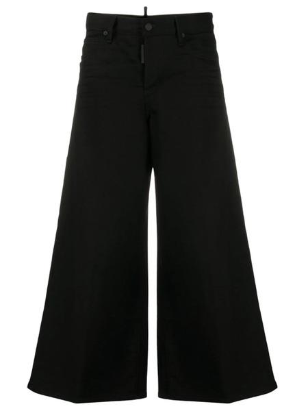 Черные джинсы с расклешенным низом Dsquared2, фото