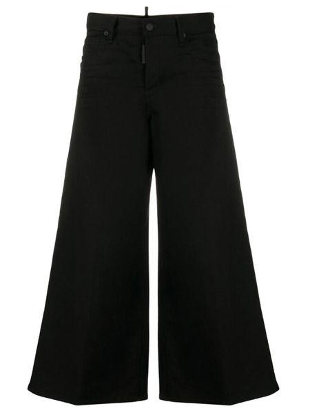 Черные джинсы с расклешенным низом Dsquared2 фото