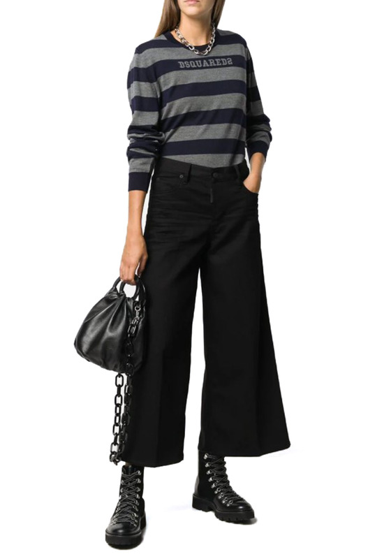 Черные джинсы с расклешенным низом Dsquared2