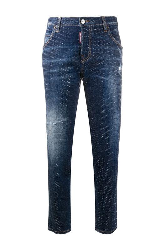 Укороченные джинсы скинни с заклепками Dsquared2, фото