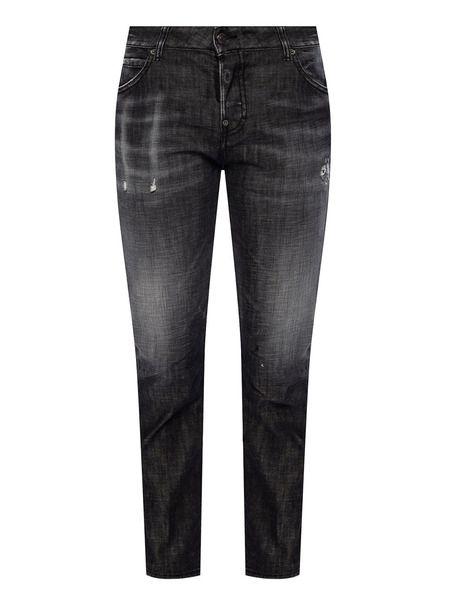 Черные джинсы с эффектом потертости Cool Girl Jean Dsquared2 фото