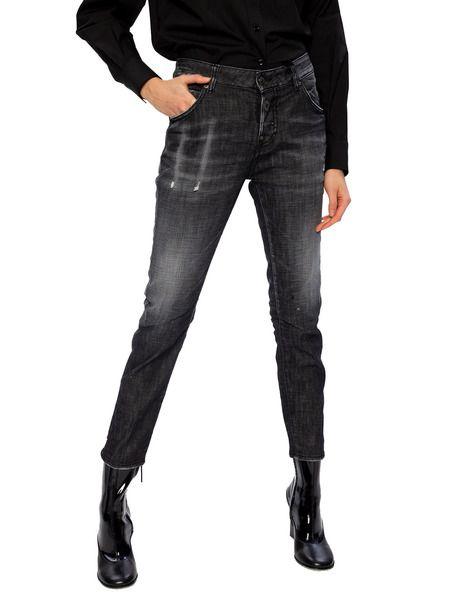 Черные джинсы с эффектом потертости Cool Girl Jean