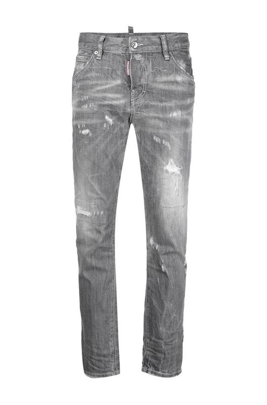 Серые укороченные джинсы скинни с эффектом потертости Dsquared2, фото