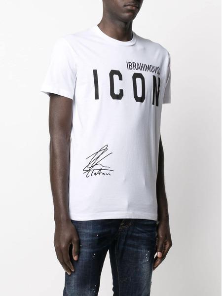 Белая футболка Icon x Zlatan Ibrahimovic Dsquared2, фото