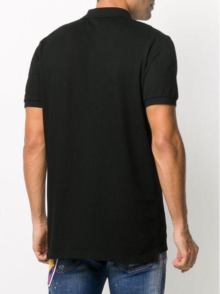Черная рубашка поло с логотипом