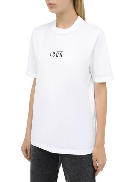Белая футболка с логотипом Icon на груди