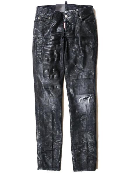 Черные джинсы с логотипом Dsquared2, фото